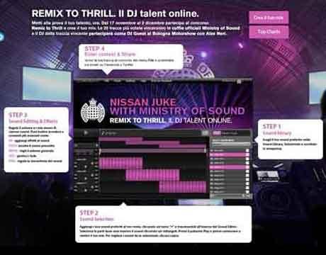 Nissan Juke Remix To Thrill: partecipa al concorso