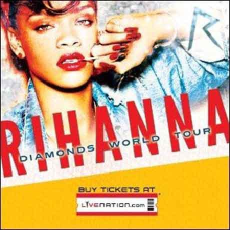 """Rihanna """"Diamonds World Tour 2013"""": date concerti"""