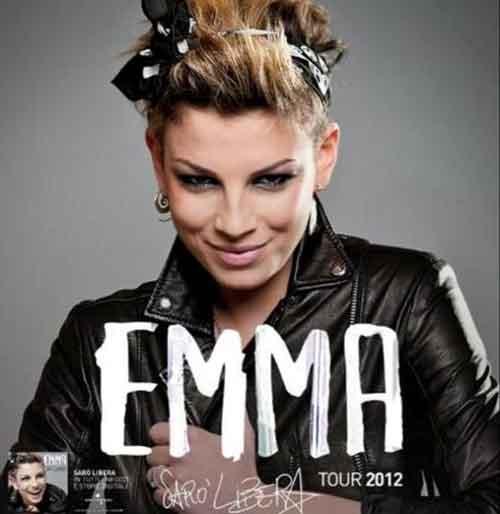 Emma Marrone: date tappe Sarò libera Tour 2012