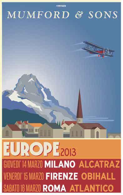 Mumford & Sons tour 2013 in Italia: tre concerti a marzo
