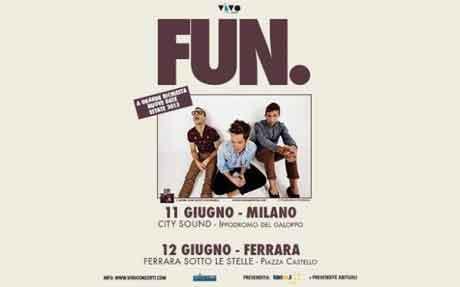 Fun. tour 2013 in Italia: informazioni biglietti concerti Milano, Roma, Bologna e Ferrara