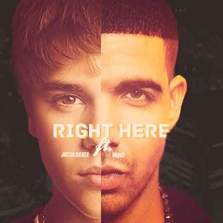 Justin-Bieber-Drake-Right-Here-artwork