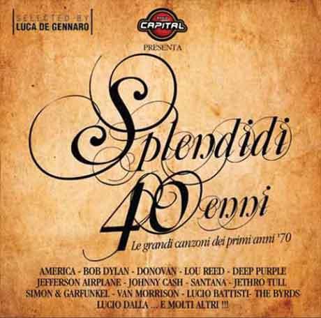 """Radio Capital """"Splendidi 40enni"""" tracklist compilation"""