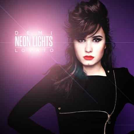 Demi-Lovato-neon-lights-artwork