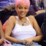 rihanna-pink-hair-nba-match