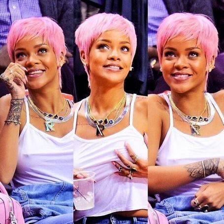 rihanna pink hair