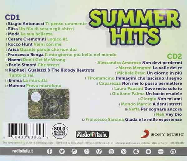 E' uscito Radio Italia Summer Hits 2014: tracklist 2 CD