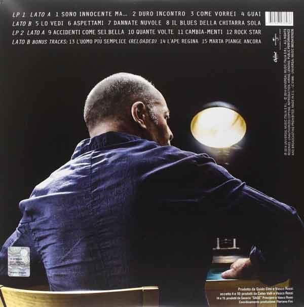 """Nuovo Album Di Vasco Rossi: Vasco Rossi """"Sono Innocente"""": Tracklist Album 2014"""