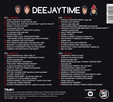 Deejay Time The Best Of: tracklist album, CD, download