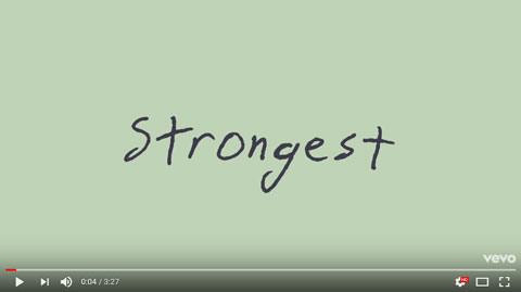 strongest-lyric-video