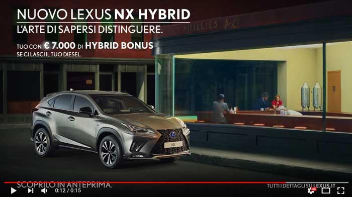 spot lexus nx hybrid titolo canzone pubblicit 2018 nuove canzoni. Black Bedroom Furniture Sets. Home Design Ideas