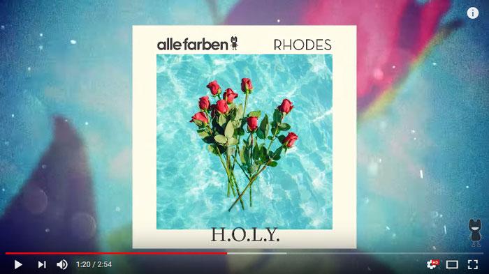 Alle Farben & Rhodes – Holy: testo, traduzione e video