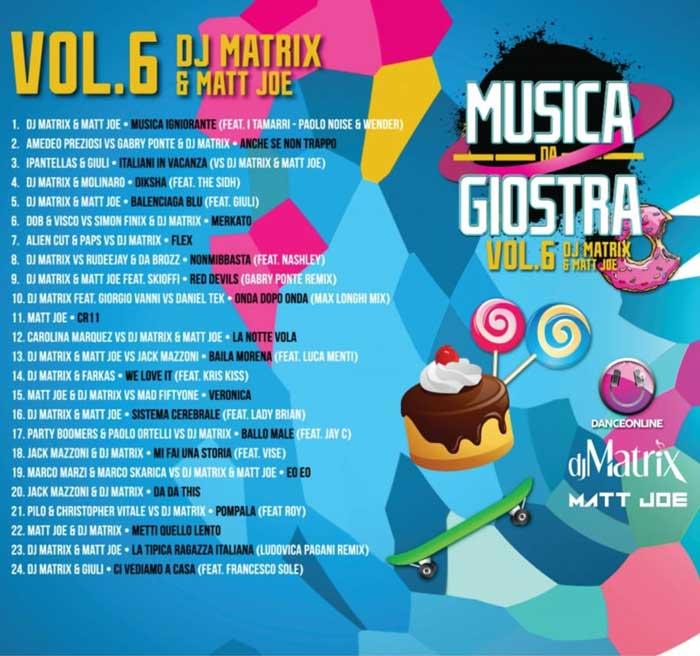 Il lato b della copertina di musica da giostra volume 6