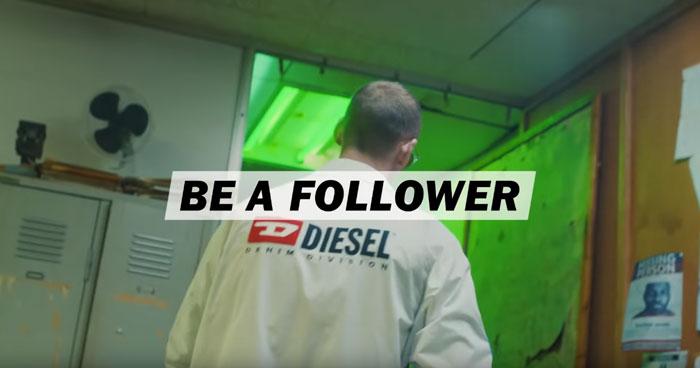 frame di una delle pubblicità diesel 2019