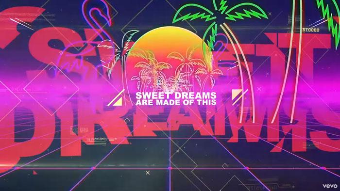 il lyric video di sweet dreams