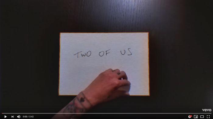 guarda il lyric video di two for us