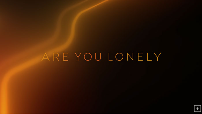 il lyric video di are you lonely