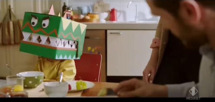 pubblicità Kinder fetta al latte 2019