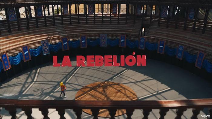il video musicale di La Rebelión