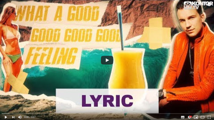 Good Vibes frame lyric video