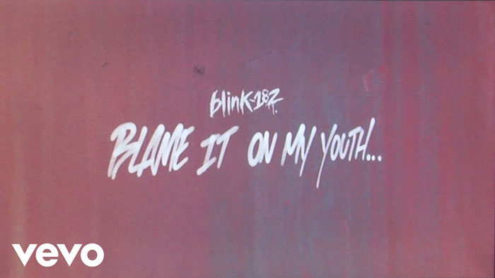 frame del lyric video di Blame It On My Youth
