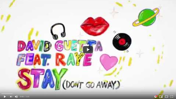 Stay Don't Go Away lyric video