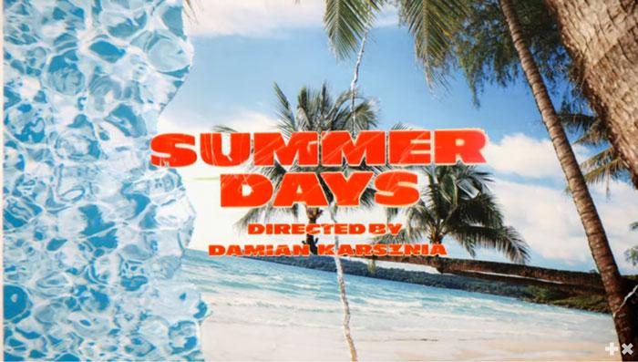 frame lyric video Summer Days