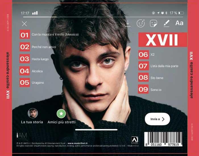 lato b copertina album XVII