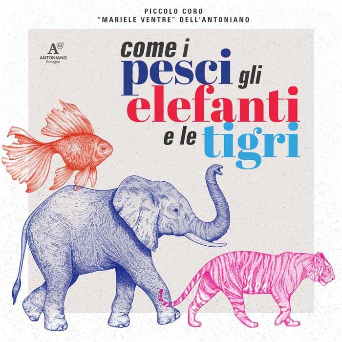 copertina canzone Come i pesci gli elefanti e le tigri