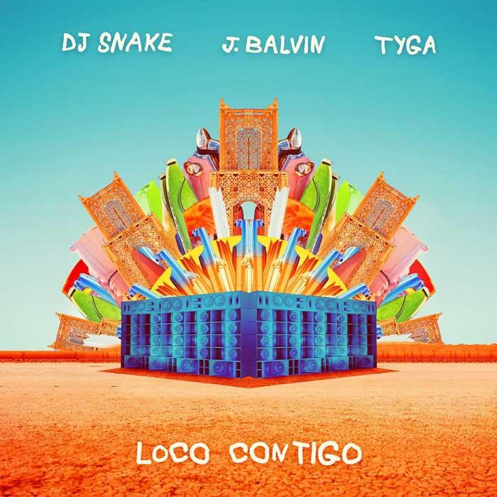 copertina canzone loco contigo balvin snake