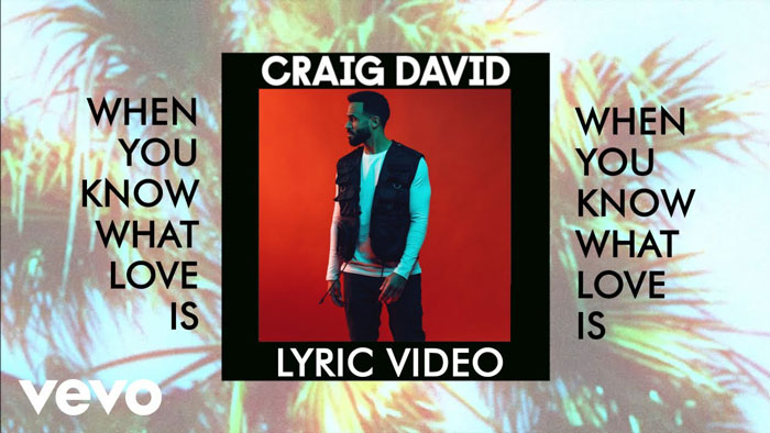 frame lyric video When You Know What Love Is