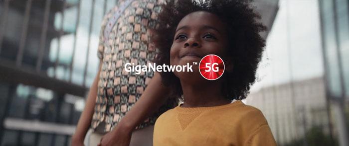 pibblicità Vodafone Giga Network 5G