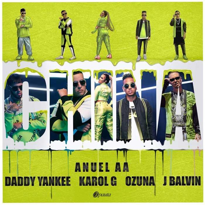 copertina canzone china anuel balvin ozuna