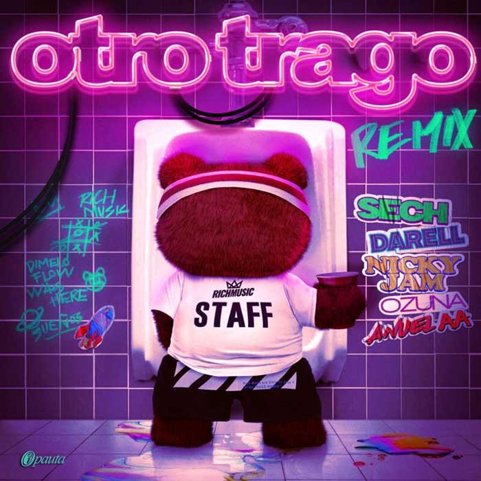 copertina canzone Otro Trago Remix