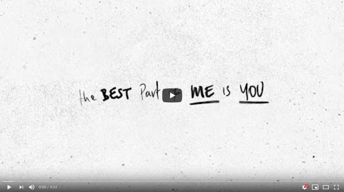 anteprima lyric video Best Part Of Me