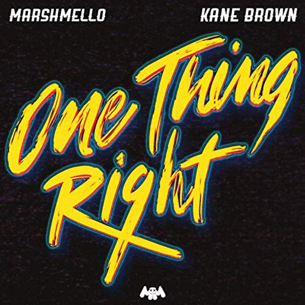 copertina brano One Thing Right