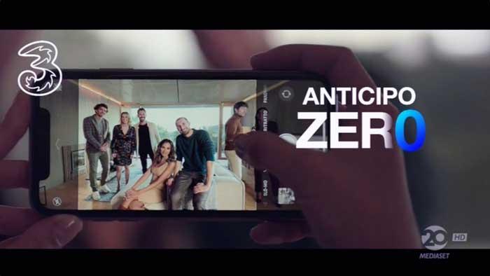 pubblicità 3 iphone 11 anticipo 0