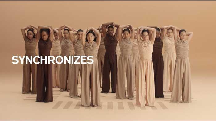 pubblicità fondotinta Shiseido Synchro Skin 2019