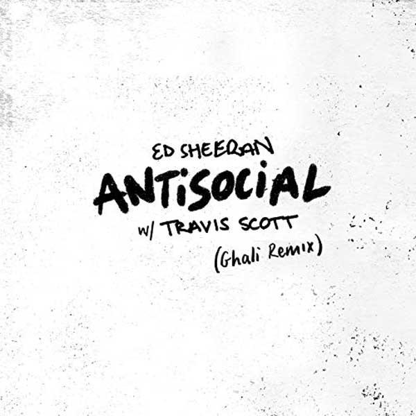 copertina canzone antisocial ghali remix