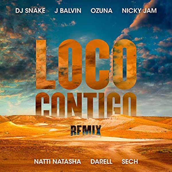 copertina canzone loco contigo remix ozuna balvin snake