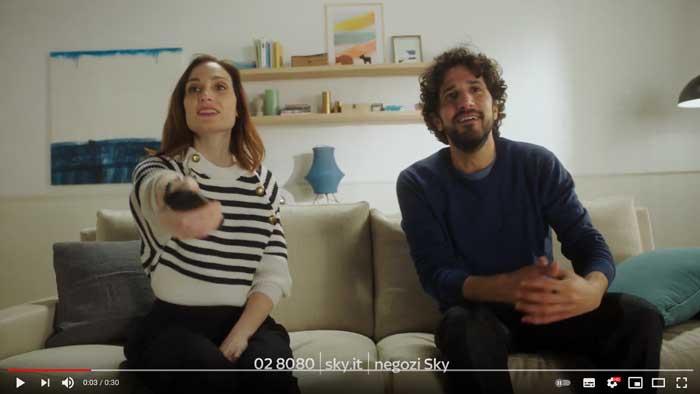 pubblicità Sky q marzo 2021