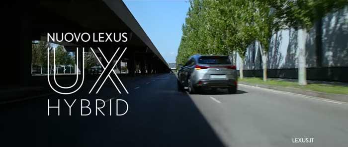 pubblicità Lexus UX Hybrid