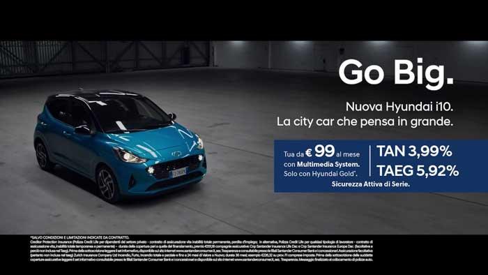 pubblicità Hyundai i10 2020