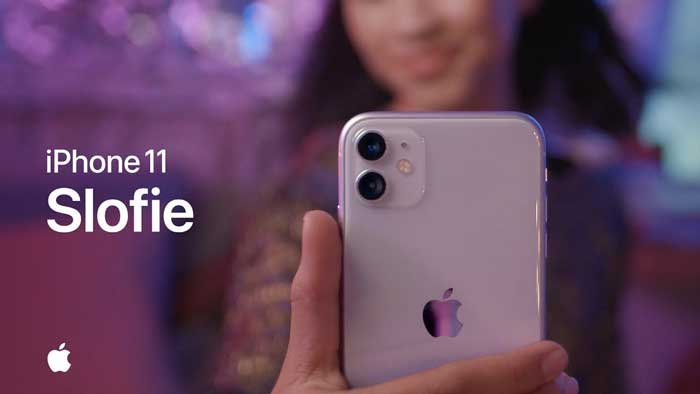 pubblicità iphone 11 Slofie