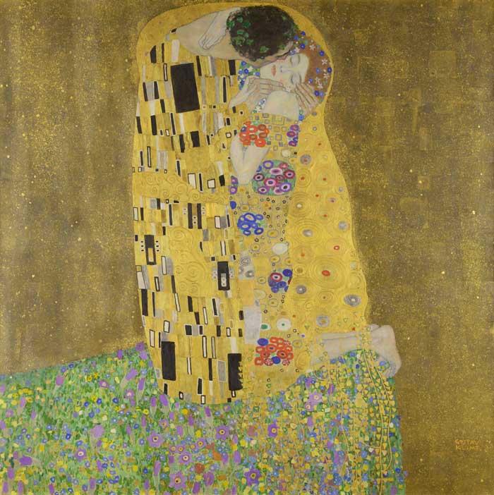 il quadro the kiss di Gustav Klimt
