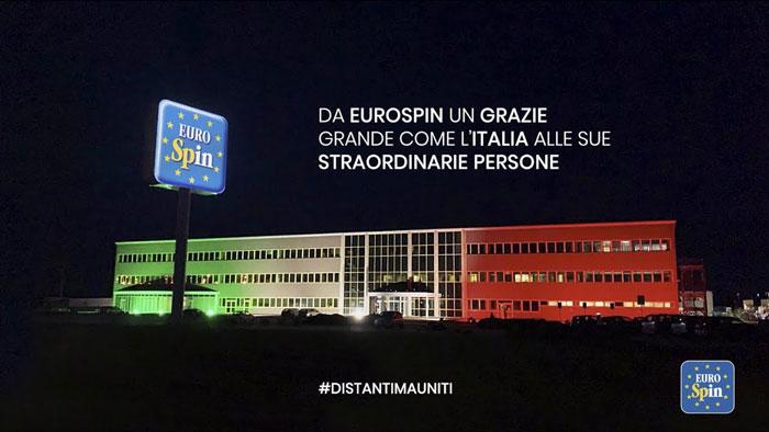 pubblicità eurospin 2020 Un GRAZIE grande come l'Italia
