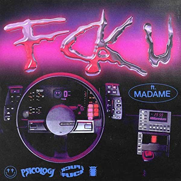 copertina canzone fck u by Psicologi