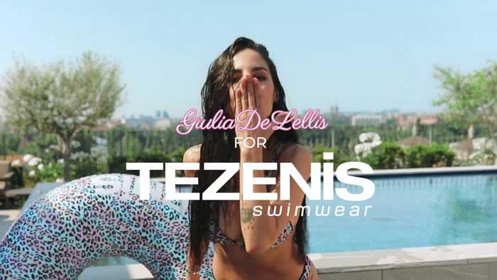 pubblicità Tezenis 2020 con Giulia De Lellis