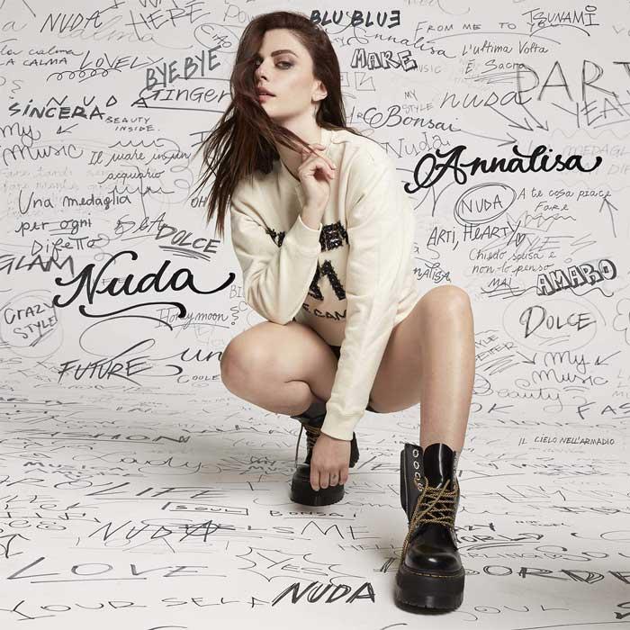 copertina album nuda by annalisa scarrone