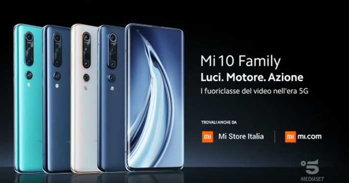 pubblicità Xiaomi mi 10
